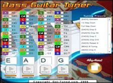 Online Adjustable Bass Guitar Tuner