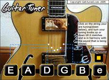 Standard Guitar Tuning Online : online instrument tuners get ~ Vivirlamusica.com Haus und Dekorationen