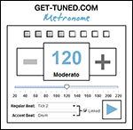 Get-Tuned Online Metronome