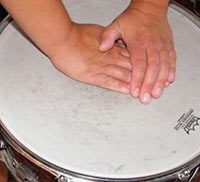 stretching snare drum head