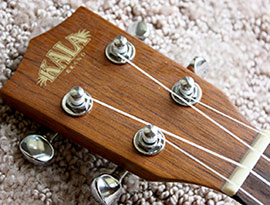 a ukulele headstock properly strung