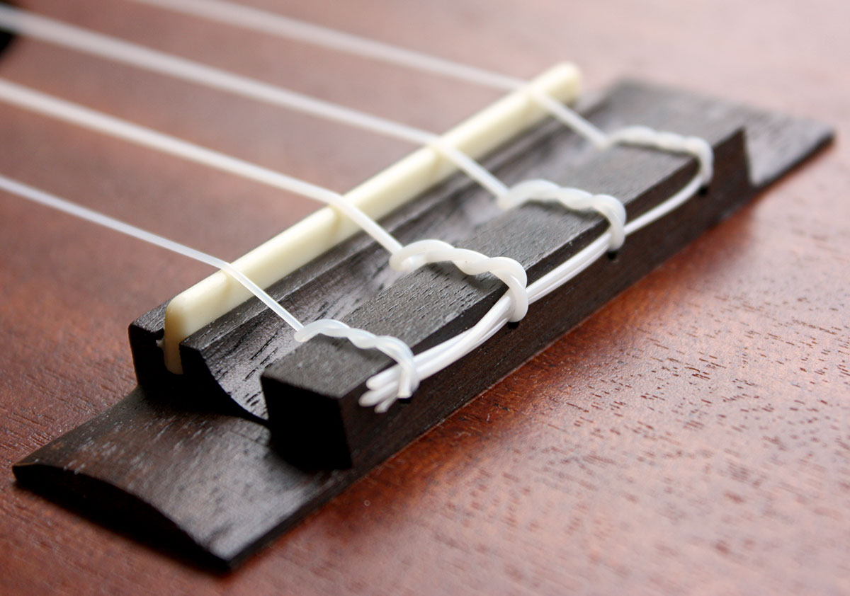 How to string a ukulele get tuned a ukulele bridge properly strung hexwebz Gallery