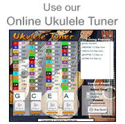 Use our online ukulele tuner